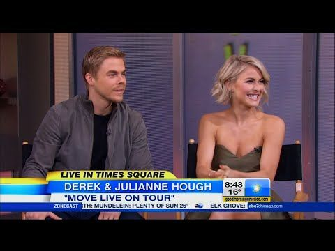 Derek and Julianne Hough on GMA 5/2/15.