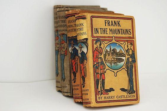 Antique Book Bundle Harry Castlemon  Lot of by TheNewtonLabel, $24.00