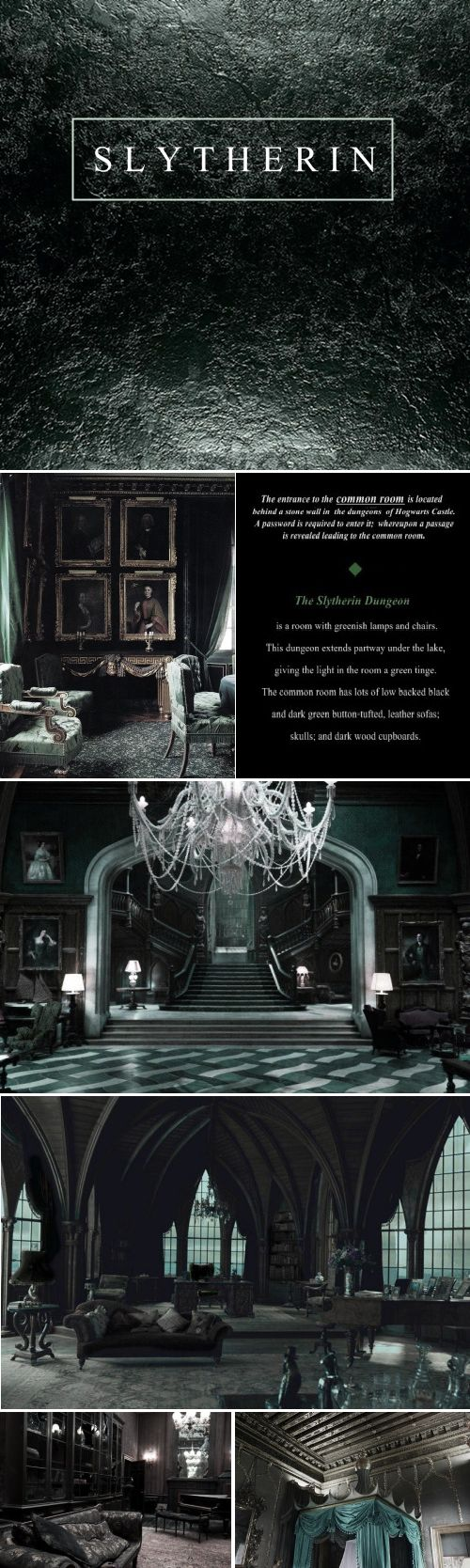 Considering basing my summer project on the Slytherin Common room (as that's my house):