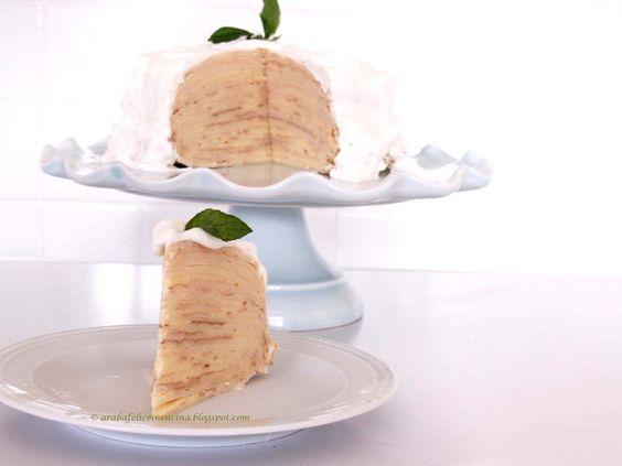 ... in cucina!: Torta di crêpes con mousse al limone e panna alla menta