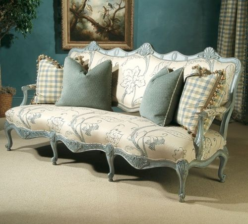 Vintage Chic French Settee The Fabric Makes All The