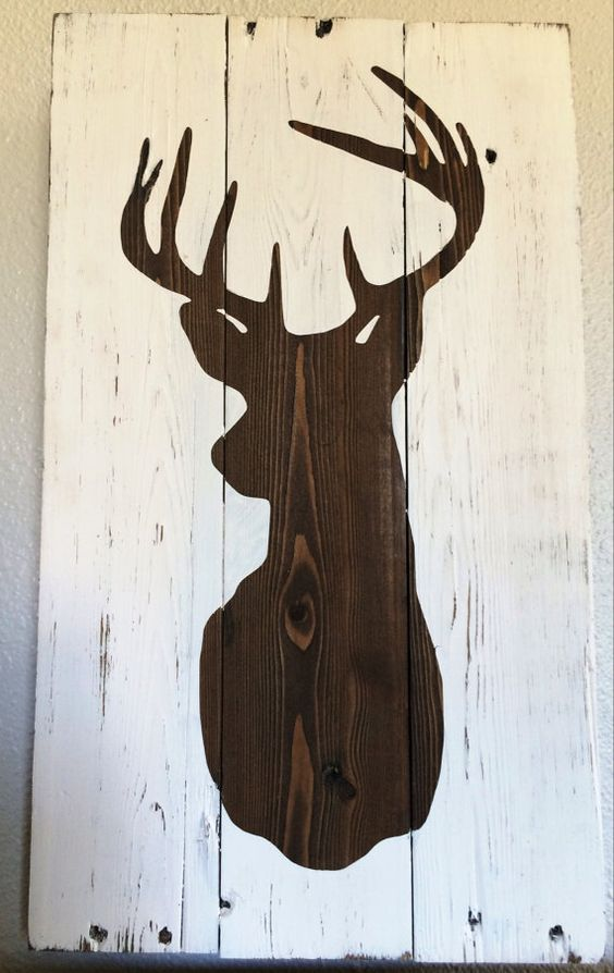 Whitetail Deer Silhouette // Reclaimed by SerendipityABoutique