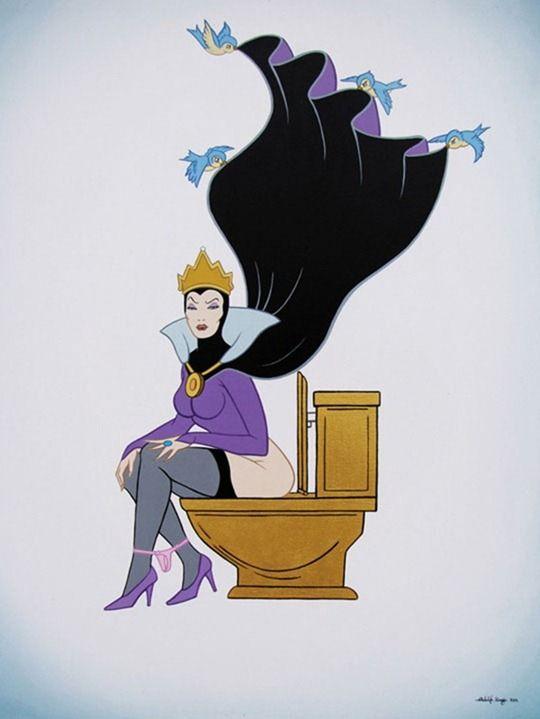 bruja en el trono