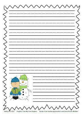 Winter writing paper