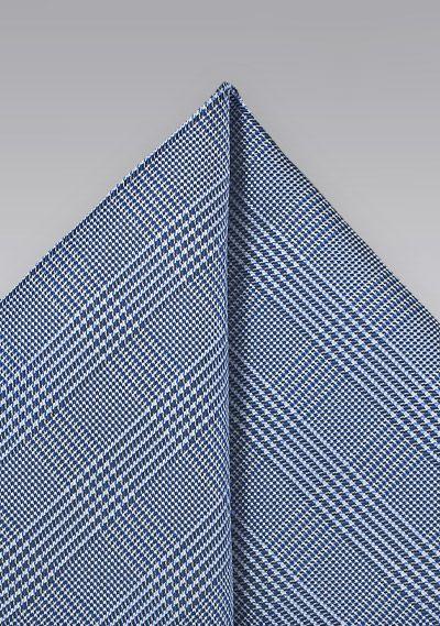 Einstecktuch Karo-Struktur navyblau