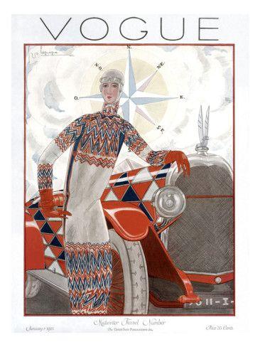 Vogue Cover - January 1925 .