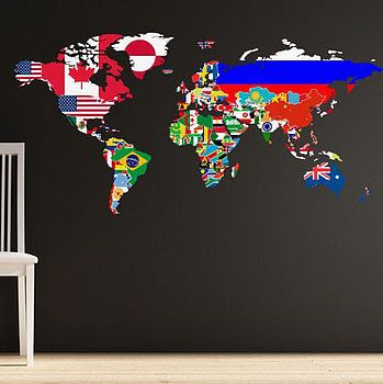 Flags of the World Wall Decal $49.03 notonthehighstreet.com