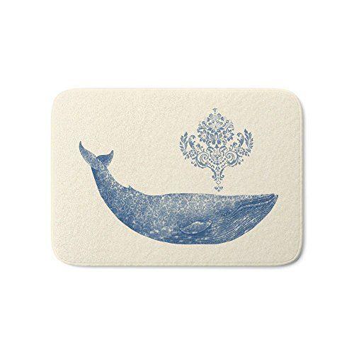 Society6 The Damask Whale Bath Mat 21