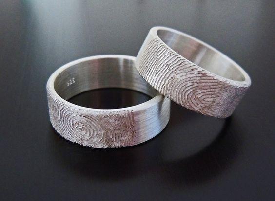 """""""Silber ID"""" Ringe mit Fingerabdruck von Dein Unikatschmuck auf DaWanda.com"""