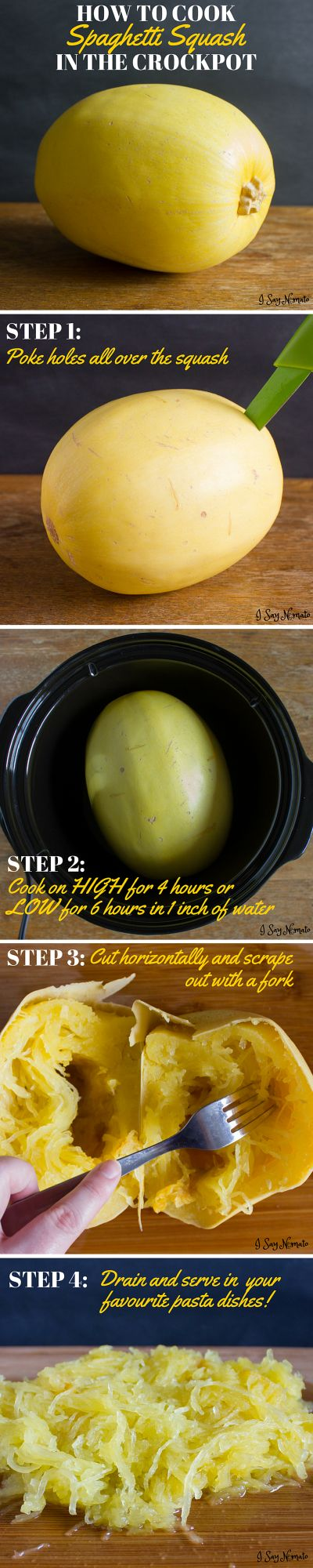 How To Cook a Spaghetti Squash in the Slow Cooker