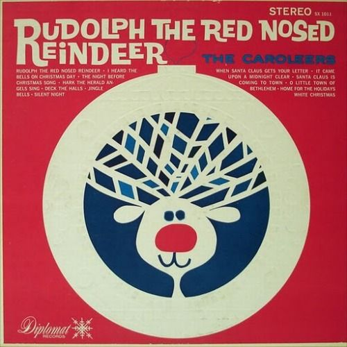 Vintage Christmas Record Album ~ Rudolph The Red Nosed Reindeer ~ The Caroleers