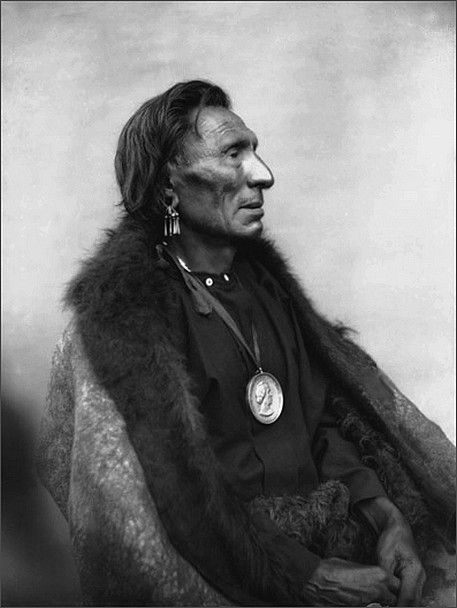 Yellow Smoke (Shoude-Nasi), 75 years of age, Omaha Chief. This could be the Yellow Smoke who was murdered in Dunlap, Iowa? Yellow Smoke visited a saloon for a game of cards but unfortunately sat down with a group of men who's intent was to rob him. After getting him drunk they stole his money and an elegant fur robe. A fight started and Yellow Smoke was struck on the head, crushing his skull.