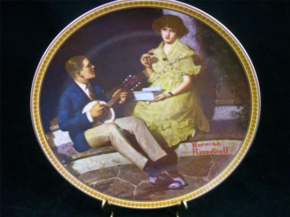 Edwin Knowles China Plate #6536M Norman Rockwell's Rediscovered Women 3rd  EUC
