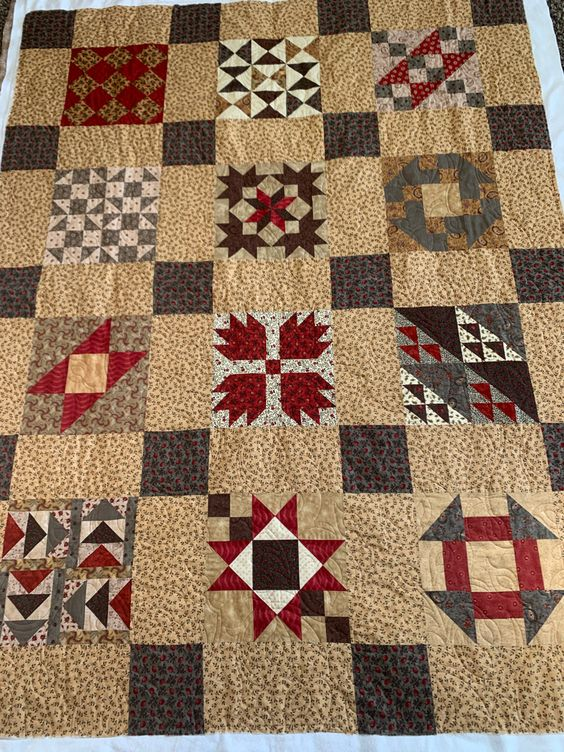 The design on this customer quilt really doesn't show because of the busy-ness of the fabrics. Its really very pretty though.