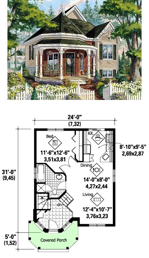 Plan 80707pm victorian cottage home plan cottage home for Bungalow floor plans historic