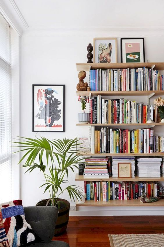 Bookshelf Study Storage Living Room Porch Home Decoration Furniture Background Wall Bookshelf Diy Corner Book In 2020 Bookshelves In Living Room Interior Decor