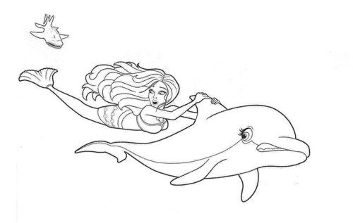 Barbie Dolphin Magic Coloring Pages The Film Begins With Dolphins Swimming Happily With A Mer Barbie Coloring Pages Mermaid Coloring Pages Mermaid Coloring
