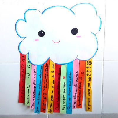 Actividad Para El Día De La Paz Nube Arcoíris De Frases