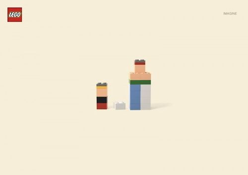 "I got these all right away, they're SO perfect.""Minimalist LEGO Ads Force You To 'Imagine' These Cartoon Characters"""