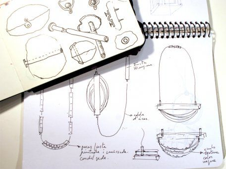 "Isabel Tristan - dibujo(s) para Pendant ""PLATS IV"", 2014,"