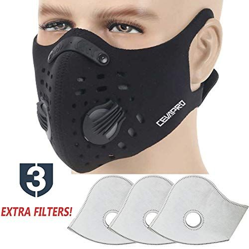 Carbon Respro Anti-Fog Foggy Motorcycle Motorbike Breath Guard Mask