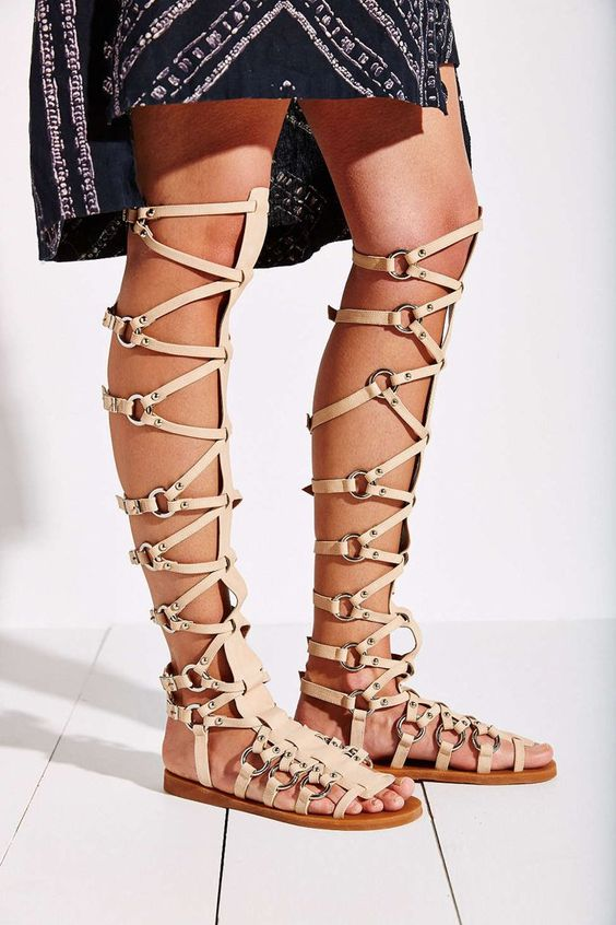 Pin for Later: Shop Spring's Biggest Shoe Trend at Every Price Jeffrey Campbell Tall Gladiator Sandal Jeffrey Campbell Logaras Tall Gladiator Sandal ($180)