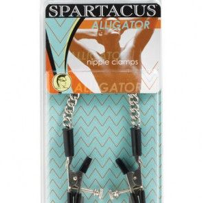The Spartacus Adjustable Alligator nipple clamps deliver a tantalizing pinch that you'll definitely notice. In the adjustable style, the skinny tips deliver localized pressure as lightly or as tightly as you choose.
