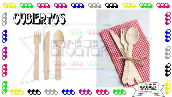 Cubiertos de madera #Cubiertos #decoracion #fiesta #wood #party  #etcmx https://www.facebook.com/ETCMX