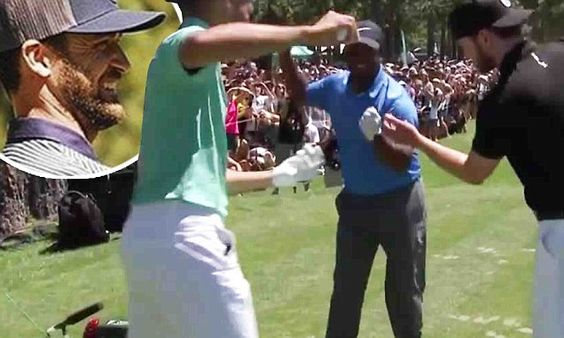 Alfonso Ribeiro, Justin Timberlake, and Stephen Curry dance and golf