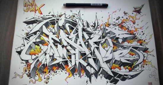 Paling Populer 30 Gambar Grafiti Keren Di Dinding 30 Gambar Tulisan Graffiti Keren Di Kertas Grafis Media Download Di 2020 Abjad Grafiti Graffiti Cara Menggambar