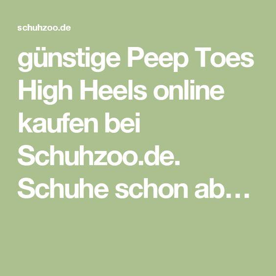 günstige Peep Toes High Heels online kaufen bei Schuhzoo.de. Schuhe schon ab…