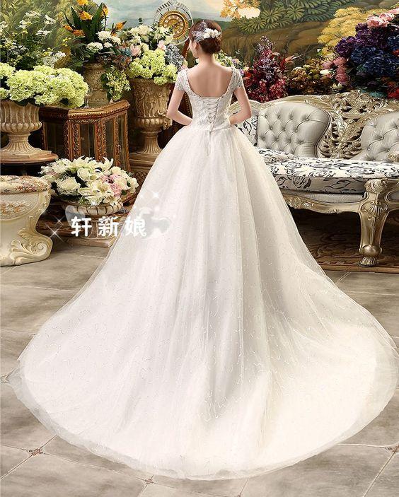 Vestido de noiva Sexy vestido de princesa vestido de princesa vestido de noiva de cauda em Vestidos de noiva de Casamentos e Eventos no AliExpress.com | Alibaba Group
