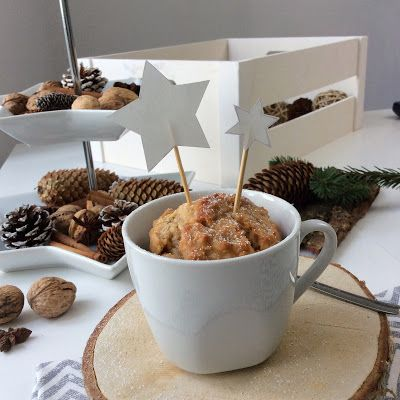 aboutVerena: winterlicher Apfel Marzipan Kuchen in a Mug / Apple Marzipan Mug Cake #mugsunday