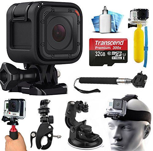 Gopro Hero5 Session Hd Action Camera Chdhs501 With 32gb Card Case Floating Handle Flexible Tripod Head Chest Strap C Action Camera Gopro Selfie Stick