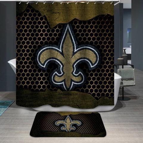 New Orleans Saints Flag Nfl Custom Shower Curtain Itdayshop