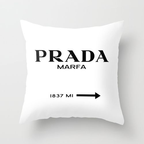 New room purchase: Prada Marfa Throw Pillow