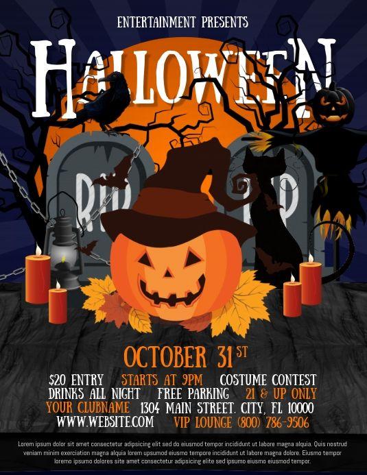 Halloween Flyers Halloween Flyer Halloween Club Party Halloween Party Costumes Halloween party flyer templates