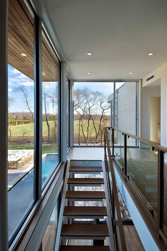 Modern stairwell.