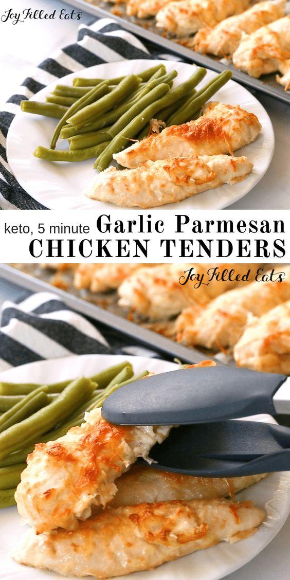 Five Minute Garlic Parmesan Chicken Tenders