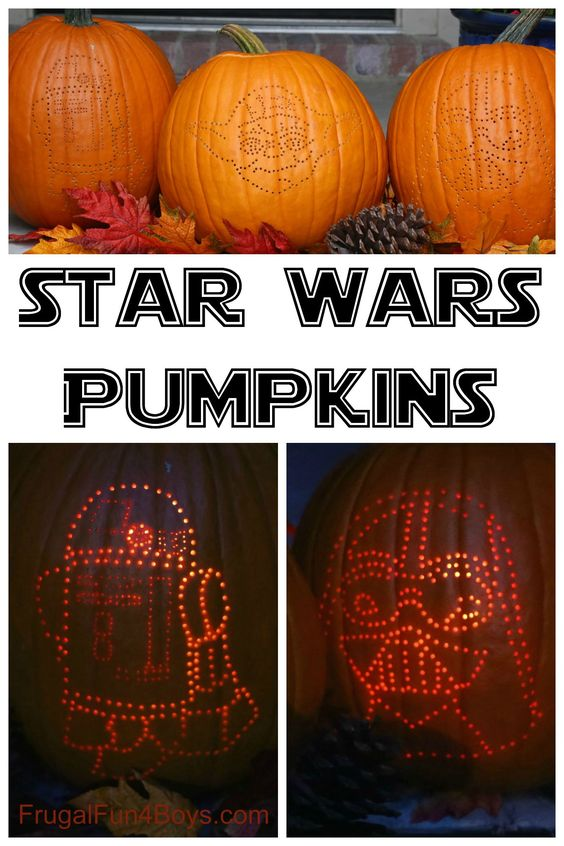 How to Create AWESOME Star Wars Pumpkins  Pumpkins, Awesome and To ...