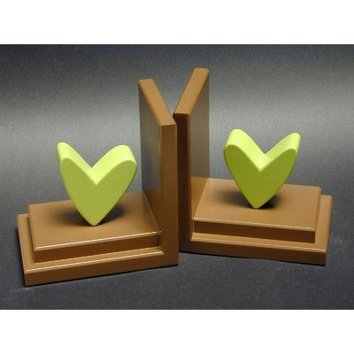One World Heart Book Ends Color: