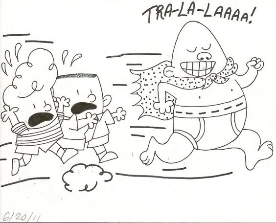 Coloring Page Of Captain Underpants