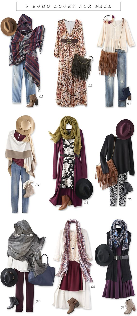 9 Boho Looks for Fall: