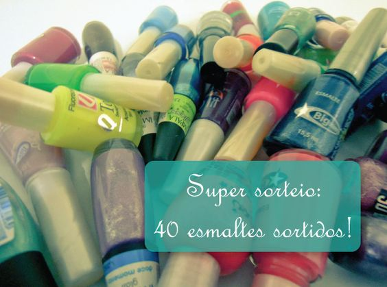 No Preach: Super sorteio: Kit com 40 esmaltes sortidos!