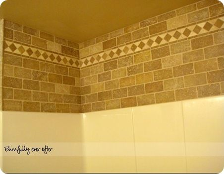 Tile shower inserts and showers on pinterest - Cost to tile bathroom tub surround ...