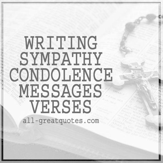 Writing Sympathy Condolence Verses Condolence card message - condolence messages