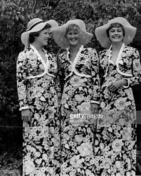 Bridal Attendants at Saturday Ceremony; Bridesmaids for the Saturday wedding ceremony of Miss Eugenie M. Mitchell and Stephen Waters were, from left, Mrs. Louis Guyott, Marblehead, Mass.; Mrs. James...: