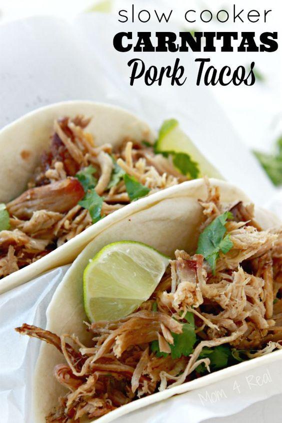 Slow Cooker Carnitas Pork Tacos | Best of Pinterest | Pinterest | Pork ...