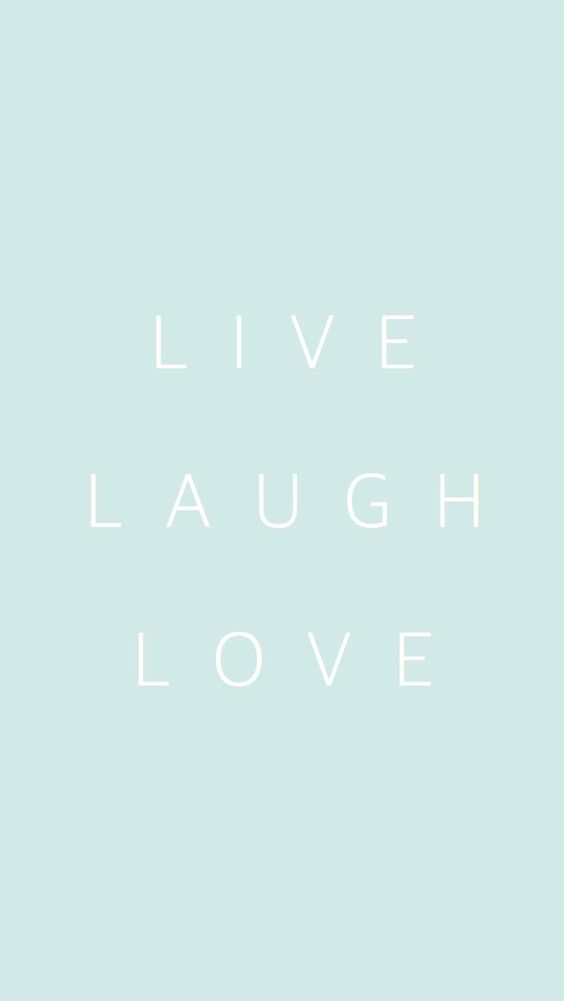 Love Wallpaper Lock Screen : Pastel mint Live Laugh Love iphone phone background ...