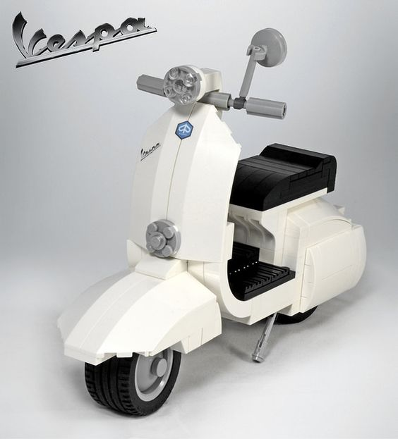LEGO Vespa – Lean, Clean, Stylish and Smart.